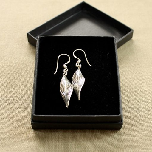Handmade silver earrings in presentation box part of our handmade silver jewellery range