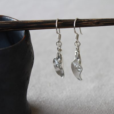 Handmade silver earrings part of our handmade silver jewellery range