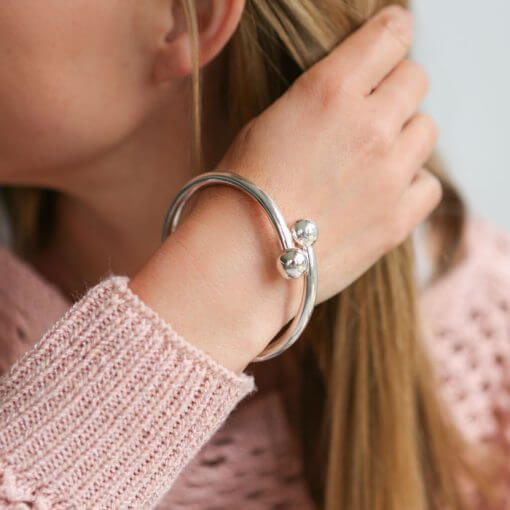Handmade silver bracelets part of our handmade silver jewellery range