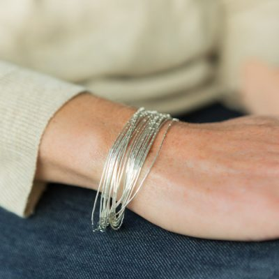 Handmade silver bracelet part of our handmade silver jewellery range